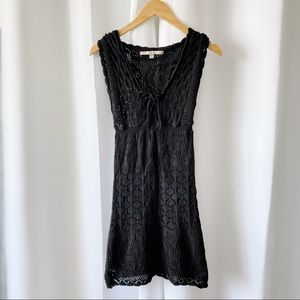 GUESS Crochet Mini Black Dress